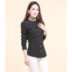 Studded Mandarin Collar Blouse YRB0062