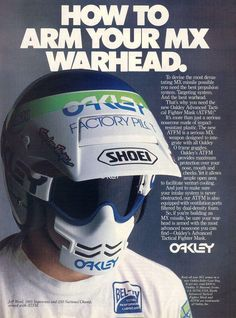 Vintage Motocross face protector looks pretty wicked but also kinda out of place!
