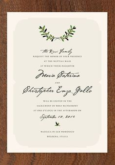 italiano wedding invitations | Green Wedding Shoes Wedding Blog | Wedding Trends for Stylish + Creative Brides