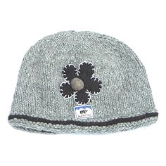 cb753028e1b Knitted Cloche Hat - Grey  knitting  clochehat Wooly Hats