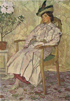 Billedresultat for Józef Mehoffer Art Nouveau, Impressionist Artists, Pierre Auguste Renoir, Edgar Degas, Art Station, Claude Monet, Female Portrait, Belle Epoque, Vintage Beauty