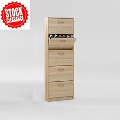 Step5 Wooden Shoe Cabinet In Ashtree With 5 drawer Features :£49.95  #furnitureinfashionshoecabinet • Shoe cabinet, shoe storage with five shoe compartments  • Ashtree finish frame & compartment doors  • Melamine surface provides the ultimate in protection against heat & scratches  • Can Hold approx 10 pairs of shoes  • Solid German furniture  • Exquisite solution to your storage requirements Dimensions: W58.5cm x D17cm x H168.5cm