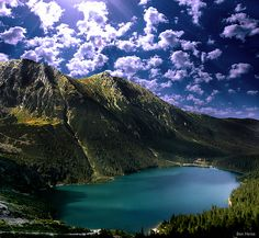 """This is """"Morskie Oko"""", the largest and fourth deepest lake of the Tatra Mountains in Poland."""