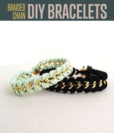 Upgrade your friendship bracelets with DIY braided bracelets. You can create two patterns from one tutorial. Perfect for gifts to all your BFFs.