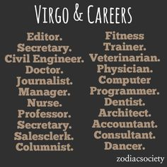 Virgo and Careers