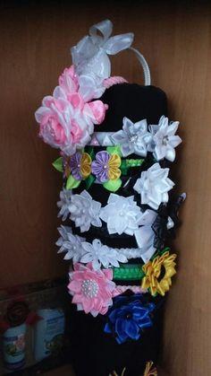 Цветы из ткани и атласных лент | 372 photos