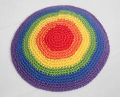 kippah rainbow colors by rainbow6colors on Etsy https://www.etsy.com/listing/272847262/kippah-rainbow-colors