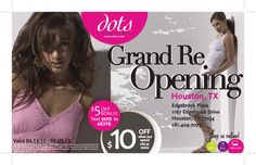 Spring grand re-openings flyer
