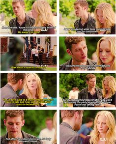 Find images and videos about love, the vampire diaries and tvd on We Heart It - the app to get lost in what you love. Caroline Forbes, Klaus And Caroline, Vampire Diaries Quotes, Vampire Diaries The Originals, Paul Wesley, Klaus Tvd, Series Movies, Movies And Tv Shows, Matthew Davis