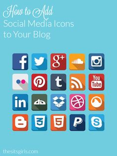 Blogging Tip: Having social media icons prominently displayed on your blog makes it easy for your readers to follow you. Learn how to add social media icons to your blog.