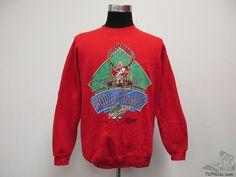 Vtg 90s Salem Cincinnati Reds Crewneck Sweatshirt sz XL Extra Large Baseball MLB #Salem #CincinnatiReds