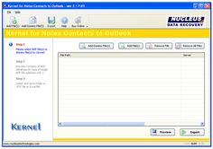 Product Screenshots for Lotus Notes Contacts to Outlook Software