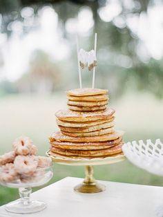 pancake wedding cake, breakfast wedding cake, pancake wedding, brunch wedding cake, brunch wedding dessert, breakfast wedding cake, unique wedding cake, pancake wedding buffet, pancake bar, pancake wedding ideas, breakfast food wedding, brunch food wedding