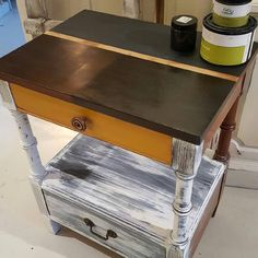 Fun to show a variety of colors and finishes on this side table! Great job Ginger! #restylechicago #reluxvintage #cececaldwell https://www.instagram.com/p/BNdAskvgubb/