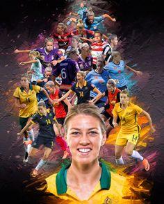 Alanna Kennedy (From Sydney FC to Western New York Flash + AusWNT ) Female Football Player, Football Soccer, Football Players, Soccer Jokes, Steampunk City, Sydney Fc, Australian Football, Text Pictures, Matilda