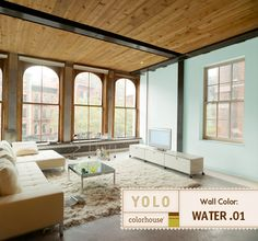 It's Springtime, but why not skip a season and bring the colors and scents of the ocean into your home? For our Beach Days-inspired room, we selected the apropos YOLO Colorhouse hue of Water .01.