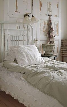 white antique linens