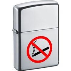 """Zippo """"No Smoking"""" High Polish Chrome Lighter"""