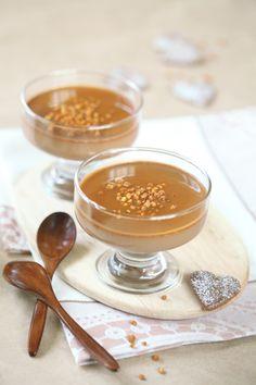 Шоколадно-кофейная панна котта с карамелью / Panna cotta de chocolate e café com caramelo