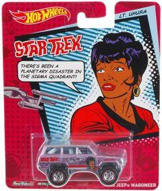 2014 Hot  Wheels Pop Culture - Star Trek - Lt. Uhura Jeep Wagoneer Real Riders