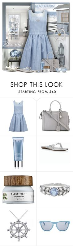 """""""Beach House Blues"""" by truthjc ❤ liked on Polyvore featuring macgraw, Alexander McQueen, Trilogy, Orlane, Talbots, Cathy Waterman, Allurez and Oakley"""