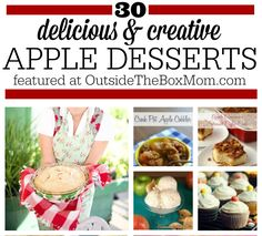 Are you looking for a collection of great apple dessert recipes? Look no further! Here's a list of 30 of the best from some of my favorite bloggers. I love apples. They are available year round, are usually around $1 per pound, and my whole family eats them. My favorite snacking apples are Fuji. My …