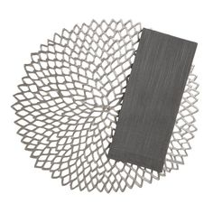 Chilewich® Dahlia Gunmetal Placemat and Lustre Silver Napkin in Placemats