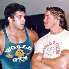 Lou: Got time for another set? Arnold: You know it.