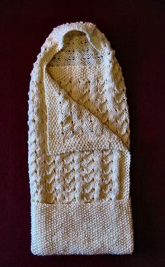 Sweet and Simple Swaddling Blanket by knitknut4, via Flickr