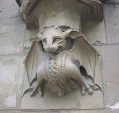"""Gargoyle Bat. This is technically a """"church grim"""", due to the lack of a water spout, but who's gonna search for that?"""