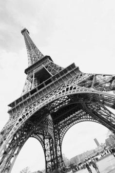 A view from the top or the bottom of the will always be beautiful. Paris Destination, Dream City, Dream Vacations, Places To Go, Scenery, France, Adventure, Black And White, World