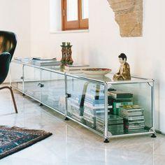 usm haller sideboard rost unbehandelt der rotbraune stoff verwandelt ihr sideboard zu einem. Black Bedroom Furniture Sets. Home Design Ideas