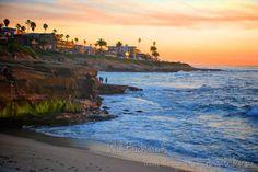 La Jolla, San Diego, California Colorful Sunset, Fine Art Print