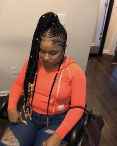 Twisted Crown Braid - 38 Quick and Easy Braided Hairstyles - The Trending Hairstyle Braided Ponytail Hairstyles, Black Girl Braids, Braided Hairstyles For Black Women, African Braids Hairstyles, Braids For Black Hair, Girls Braids, Weave Hairstyles, Girl Hairstyles, Men's Hairstyle