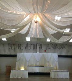 Classic white. #wedding #design http://www.devineweddingdesign.ca/
