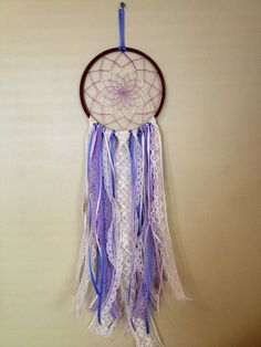Handmade Lavender 7 Inch Lace Dream Catcher