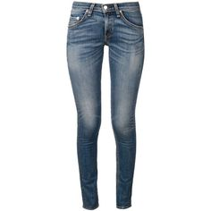 Rag & Bone Barons Skinny Jeans ($311) ❤ liked on Polyvore featuring jeans, blue, denim skinny jeans, skinny jeans, blue skinny jeans, blue jeans and skinny leg jeans