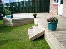 decks without railings | deck, deck pictures, deck pics, deck photos, backyard deck