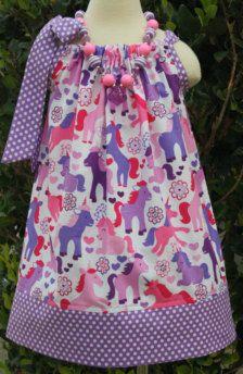 Unicorn Pillowcase dress.