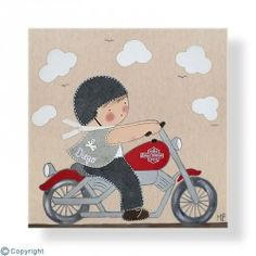 Harley Davidson, Cute Illustration, Painted Rocks, Baby Room, Decoration, Snoopy, Kids Rugs, Baby Shower, Stickers