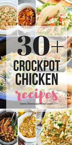 A wide variety of Crockpot Chicken Recipes to make dinner time simple Pasta soups stews tacos chicken breasts and chicken thighs - you won t get bored with this list of slow cooker chicken meals crockpot slowcooker chicken dinner recipe Crockpot Dishes, Crock Pot Cooking, Healthy Crockpot Recipes, Slow Cooker Recipes, Dump Recipes, Crockpot Recepies, Dinner Crockpot, Kid Recipes, Crockpot Meals