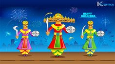 Why is celebrated? Dussehra celebrates the victory over the demon king in an epic battle symbolizing the triumph of good over evil. On a day to be joyous, to indulge in food and glee, wishes all a very happy, spectacular and auspicious Dussehra! Kitty Party Games, Cat Party, Wallpaper Pictures, Pictures Images, Hd Images, Hd Wallpaper, Dasara Wishes, Happy Dussehra Wallpapers