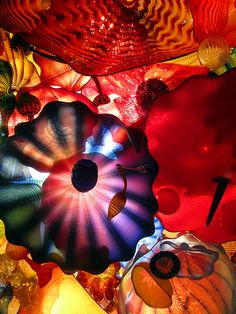 Persian Ceiling by Dale Chihuly. Chihuly Garden and Glass, Seattle. Photo: Rachel Nixon.