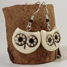 Owl Earrings - Painted Polymer Clay Owls