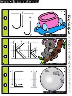 BJ Leiva's media content and analytics Spanish Activities, Alphabet Activities, Preschool Kindergarten, Preschool Worksheets, Life Skills Kids, Spanish Alphabet, Alphabet Tracing, Teaching Materials, Learning Centers
