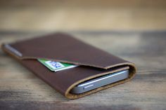 Leather iPhone Case - iPhone 5 and iPhone 4 Leather Case - Acorn Brown Leather - Mens Womens - Personalized Monogram