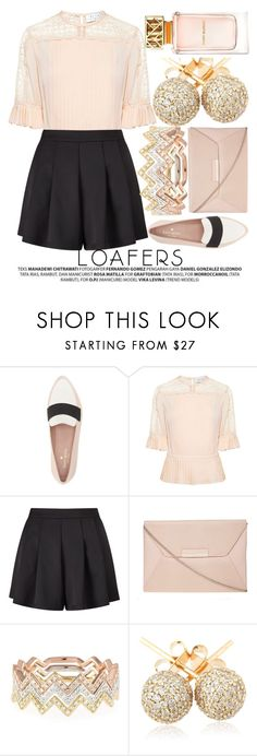 """""""FALL FOOTWEAR TREND: LOAFERS"""" by noraaaaaaaaa ❤ liked on Polyvore featuring Kate Spade, Tanya Taylor, Miss Selfridge, Dorothy Perkins, EF Collection, Loushelou and Tory Burch"""