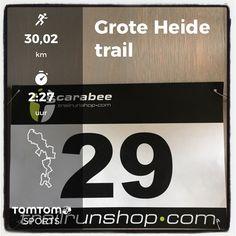 Scarabee Groote heide trail in Valkenswaard. 30 km in 2:27:00.