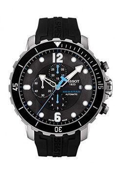 Tisso Seastar Black Dial Chronograph Automatic Men's Watch T0664271705702 http://worldwidewatchcompany.com