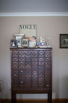 Card Catalog (used for wine storage)! vignette
